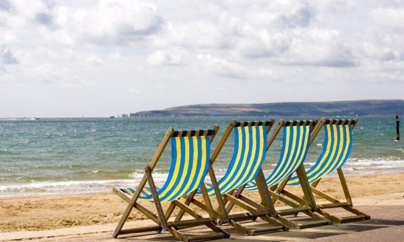Bournemouth Beach Deck Chairs on Beach - TravelRest Hotel